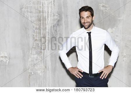 Shirt and tie guy smiling at camera