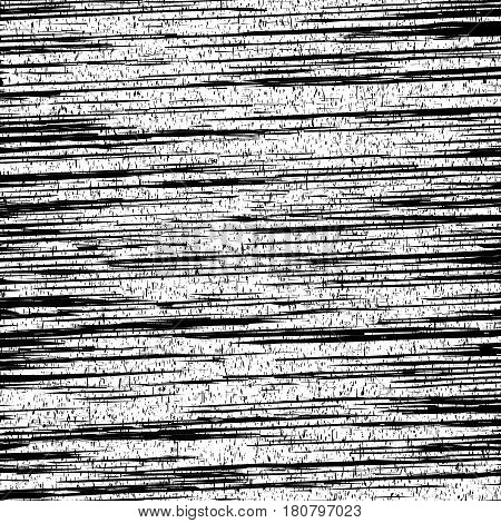 Black and white striped noisy background. Vector illustration