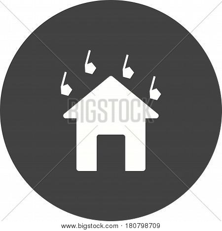 Hailstorm, white, rain icon vector image. Can also be used for disasters. Suitable for mobile apps, web apps and print media.