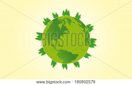 Happy Earth Day vector illustration collection stock