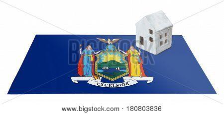 Small House On A Flag - New York