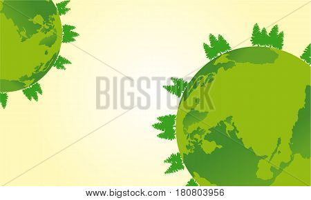 Vector flat earth day design collection stock