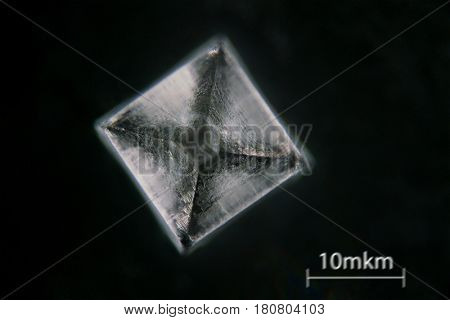 Micro Photo of the Crystal of Table Salt