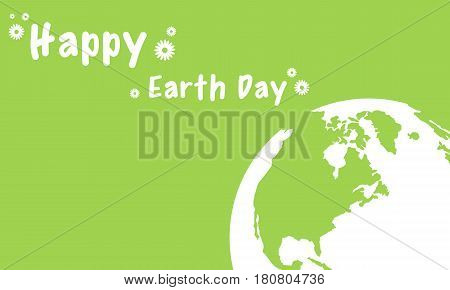 Vector illustration of happy earth day collection stock