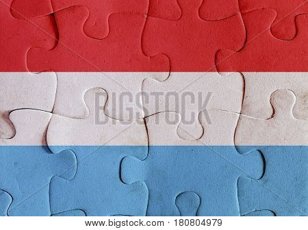 Luxembourg Flag Puzzle