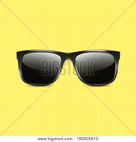 Hipster sunglasses icon vector illustration with vivid colors