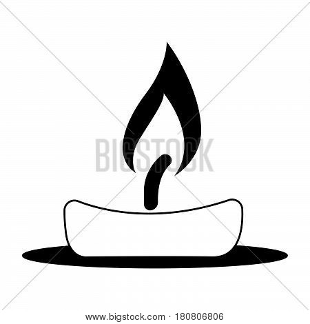 a Simple flat black candle icon vector