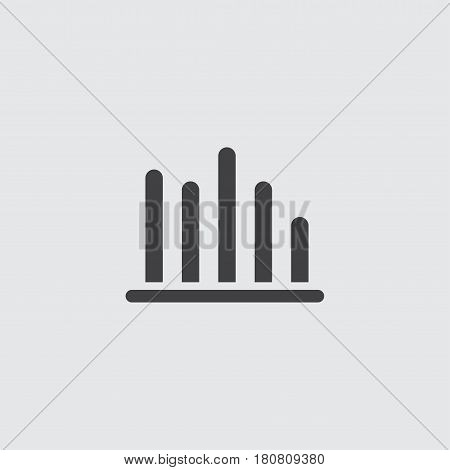 Statistic icon in a flat design in black color. Vector illustration eps10