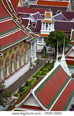 Asia  Thailand    Bangkok  Garden Colors Religion      Mosaic