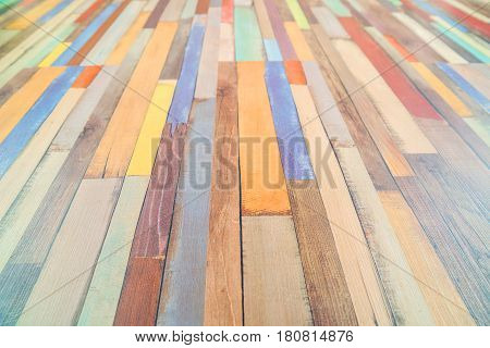 Colored horizontal rectangular tiled background with outlook looking yellow red white black pattern. Multicolor tiles