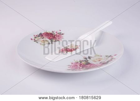 Plate Or Cake Plate On A Background.