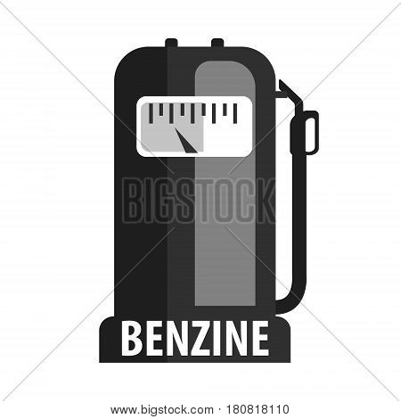 Gasoline pump nozzle, fuel pump petrol station. Gasoline and oil station. Flat vector illustration isolated on a white background