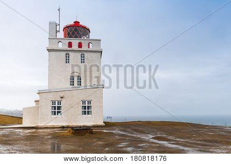 Iceland Lighthouse Tower, Dyrholaey