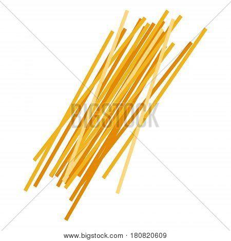 Spaghetti pasta. Uncooked italian pasta, macaroni, cartoon illustration isolated on a white background