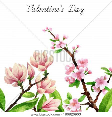 Watercolor Botanical Elements