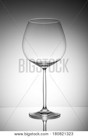 Beautiful transparent glass on a light background