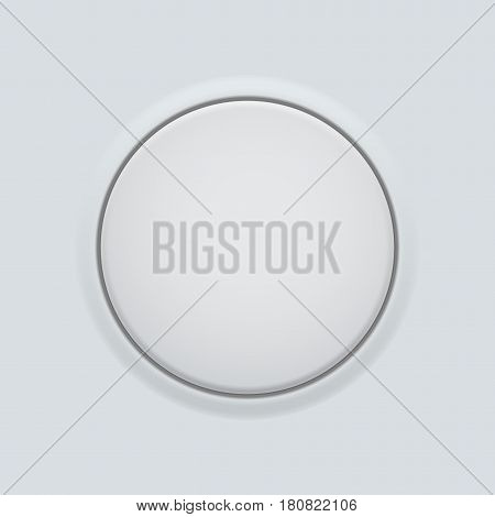 Round button normal. On gray interface background. Vector illustration