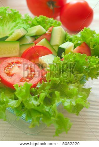 poster of Healthy food: fresh vegetables on the plate