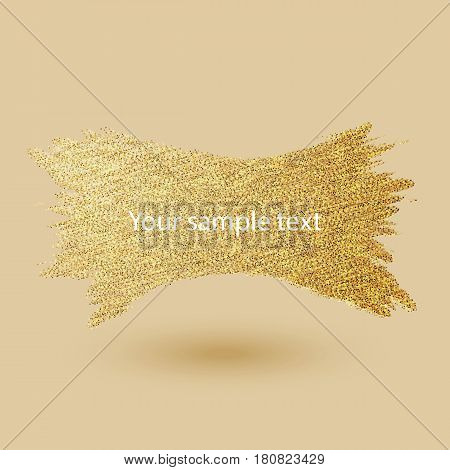 Abstract banner Gold glitter small particles Vector eps10