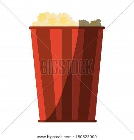 pop corn bucket icon over white background. colorful design. vector illustration