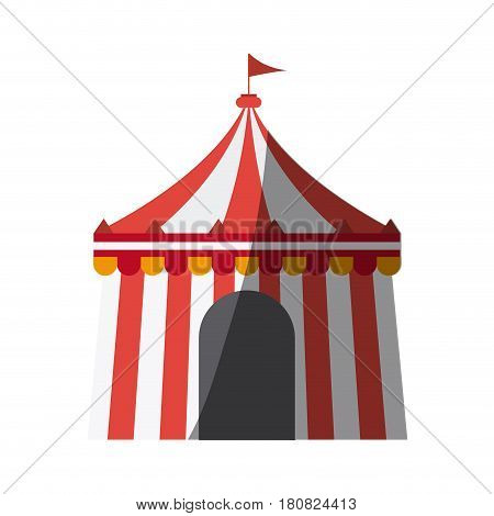 circus tent icon over white background. colorful design. vector illustration