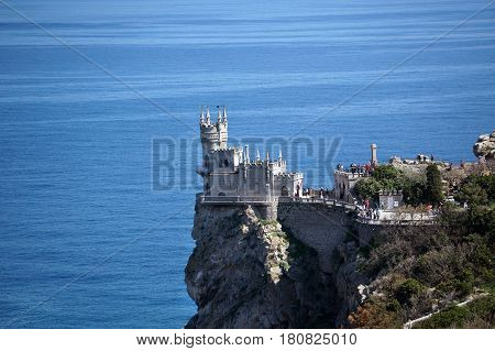 Swallow's Nest Is An Ancient Castle On A Rock