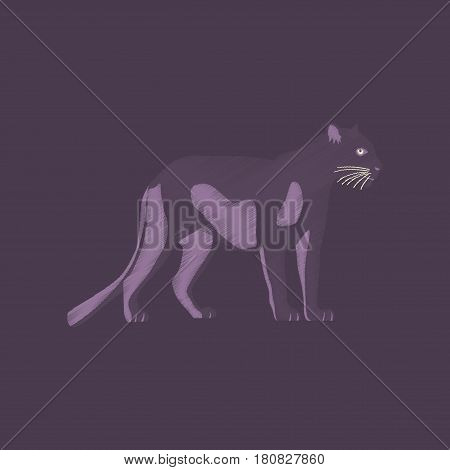 flat shading style icon panther animal wildlife