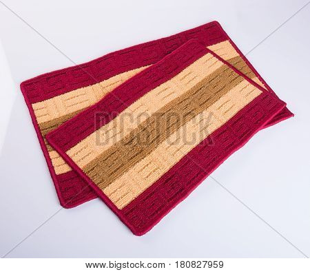 Carpet Or Doormat For Cleaning Feet On Background.