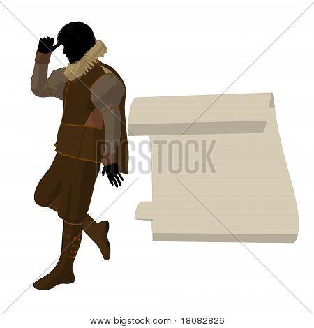 William Shakespeare Illustration Silhouette