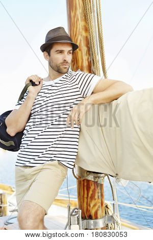 All aboard the handsome boat sailor guy