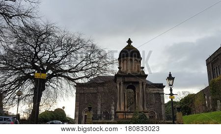 Ancient church building in the city of Stirling, Scotland