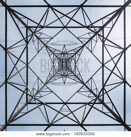 Electricity Pylon Abstract