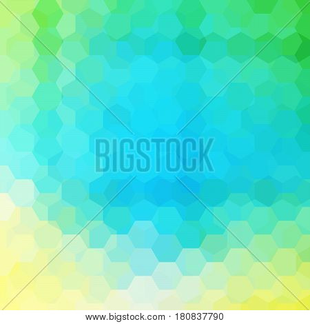 Abstract Background Consisting Of Yellow, Blue, Green Hexagons. Geometric Design For Business Presen