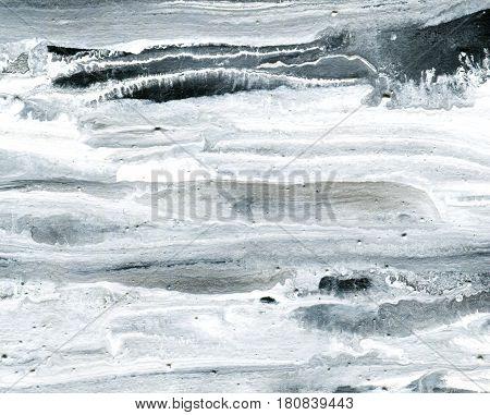 Black and white acrylic background, hand drawn illustration