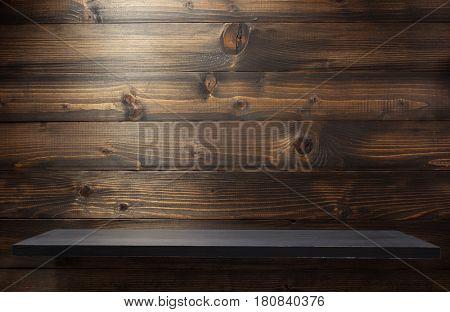 brown wooden shelf background texture