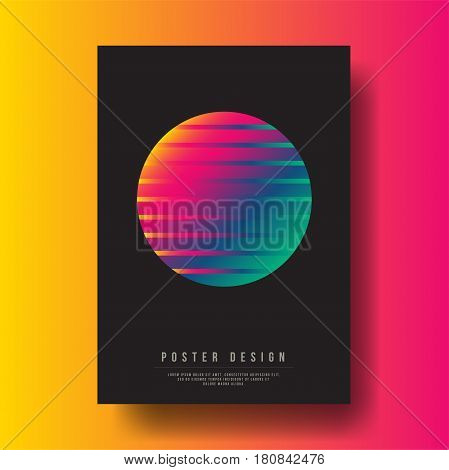 Abstract Colorful Gradient Circle Cover Design - Vector illustration template