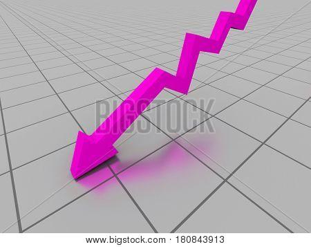 Business graph. 3d illustration