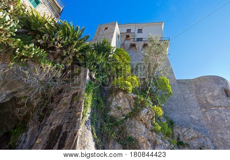 Italy Amalfitana Coast Cetara the Norman Tower