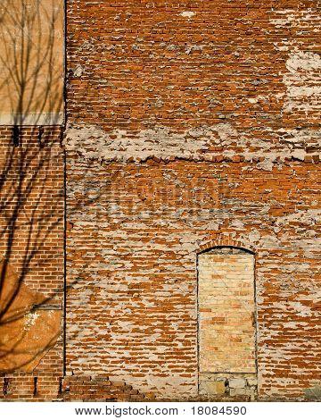 Brick Wall With Bricked In Doorway