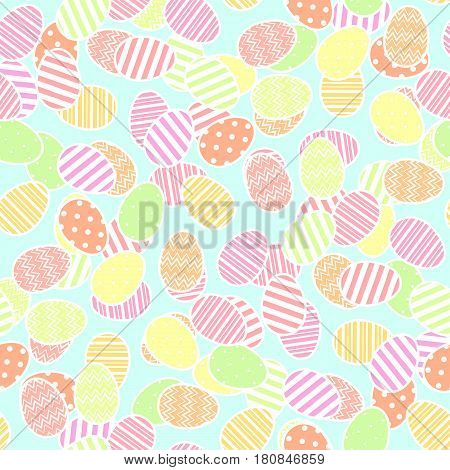 Easter eggs pattern. Seamless background for easter design