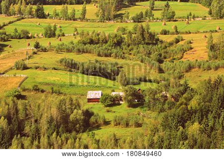 Landscape in Apuseni Mountains, Transylvania. The Apuseni Mountains is a mountain range in Transylvania, Romania, which belongs to the Western Romanian Carpathians