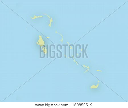 Map Of Bahamas With Shadow