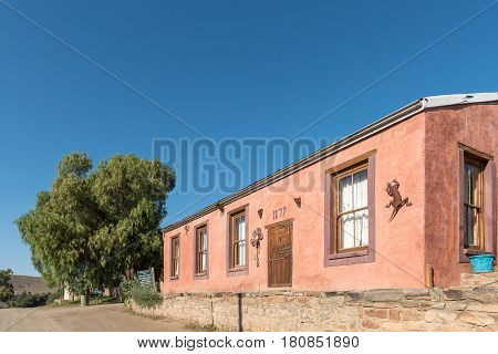 NIEU BETHESDA SOUTH AFRICA - MARCH 22 2017: An historic building dating 1879 in Nieu-Bethesda an historic village in the Eastern Cape Province