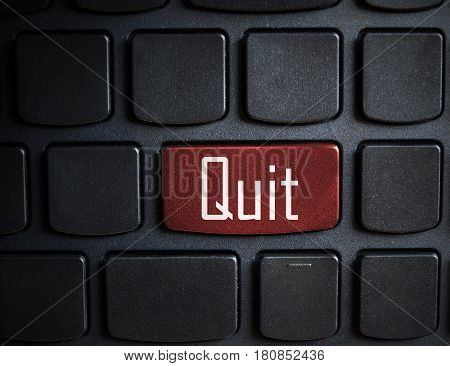 quit message on enter key on keyboard.