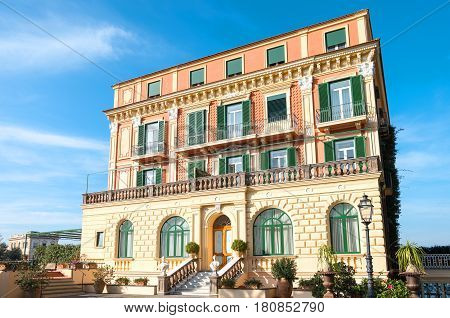Sorrento Italy - November 15 2015: The dependance of a luxury hotel in the country center