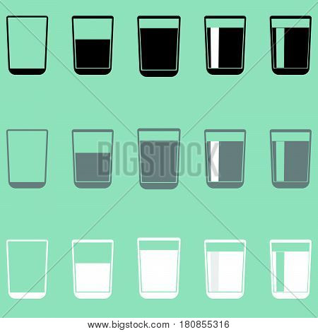 Glass cup riser or thimble it is  icon.