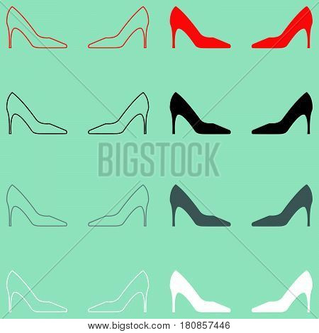 Woman Shoes Or Open Toe Icon.