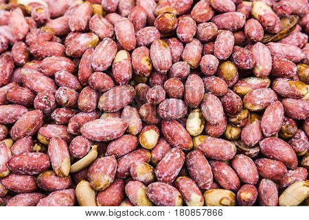 Peanuts salted baked as background Salted peanuts