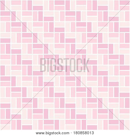 Seamless colored pattern with light pink and rose color rectangles. Zigzag or sidestep view