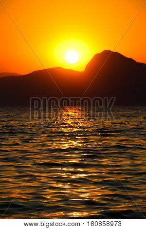 Sunset, Evening, Landscape, Dusk, Landscape, Crimea, the black sea, the sea